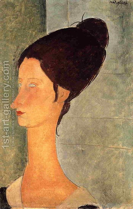 Jeanne Hebuterne II by Amedeo Modigliani - Reproduction Oil Painting