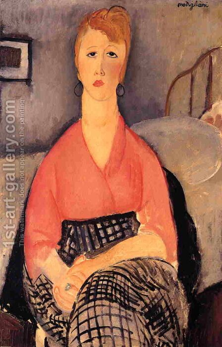 Pink Blouse by Amedeo Modigliani - Reproduction Oil Painting