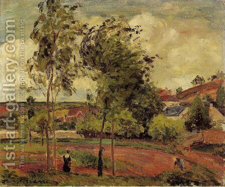 Strong Winds, Pontoise by Camille Pissarro - Reproduction Oil Painting