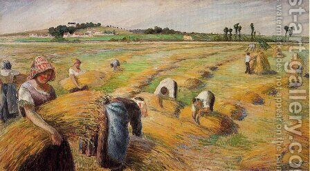 The Harvest I by Camille Pissarro - Reproduction Oil Painting