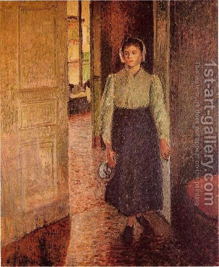 The Young Maid by Camille Pissarro - Reproduction Oil Painting