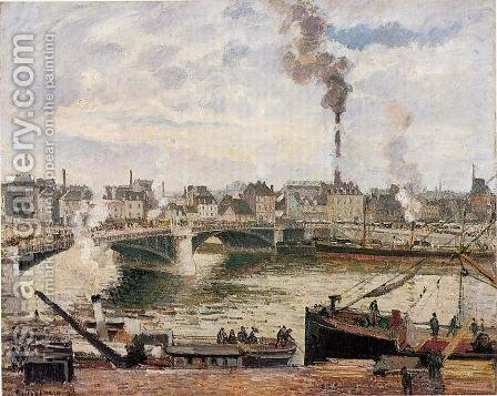 The Great Bridge, Rouen by Camille Pissarro - Reproduction Oil Painting