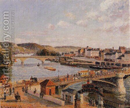 Afternoon, Sun, Rouen by Camille Pissarro - Reproduction Oil Painting