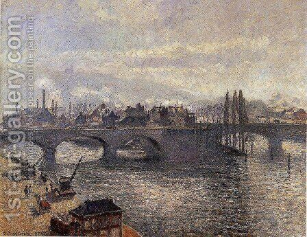 The Pont Corneille , Rouen: Morning Effect by Camille Pissarro - Reproduction Oil Painting