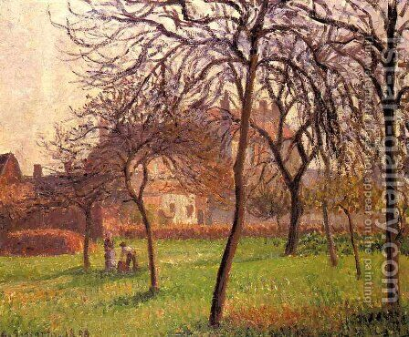 Mother Lucien's Field at Eragny by Camille Pissarro - Reproduction Oil Painting