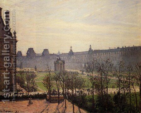 The Carrousel: Autumn, Morning by Camille Pissarro - Reproduction Oil Painting