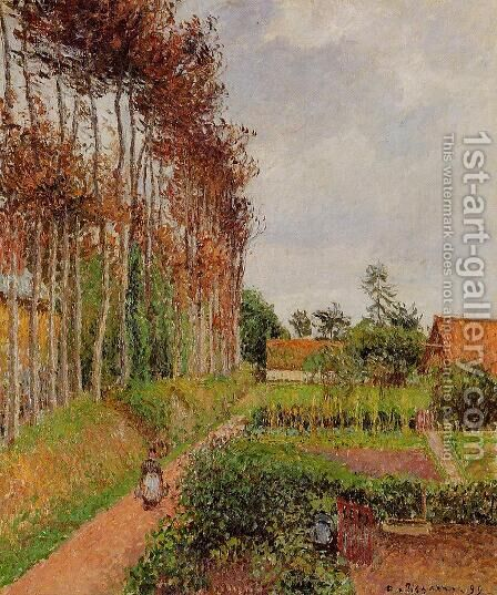 The Steading of the Auberge Ango, Varengeville by Camille Pissarro - Reproduction Oil Painting