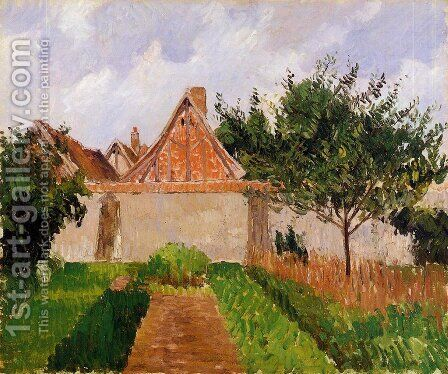 Garden at Eragny (study) by Camille Pissarro - Reproduction Oil Painting