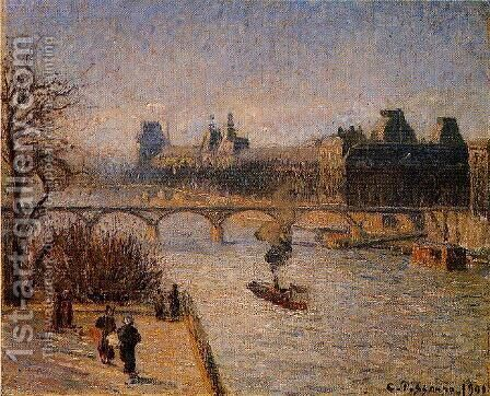 The Louvre I by Camille Pissarro - Reproduction Oil Painting