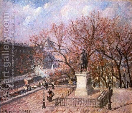 The Pont-Neuf and the Statue of Henri IV by Camille Pissarro - Reproduction Oil Painting