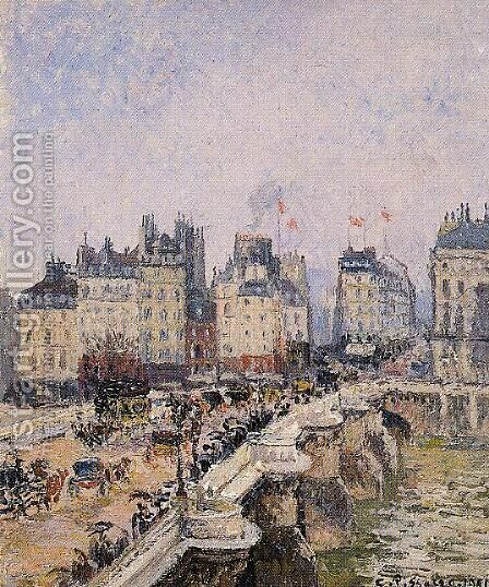 The Pont-Neuf IV by Camille Pissarro - Reproduction Oil Painting