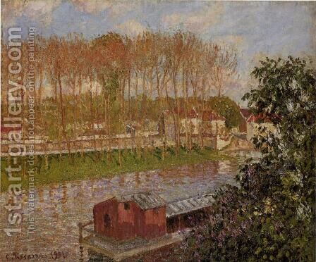 Setting Sun at Moret by Camille Pissarro - Reproduction Oil Painting
