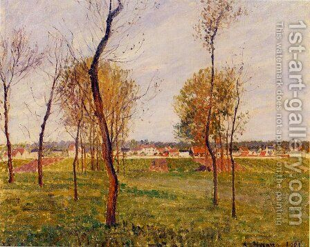 A Meadow in Moret by Camille Pissarro - Reproduction Oil Painting