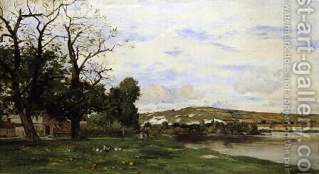 View of Andelys by Edmond Charles Joseph Yon - Reproduction Oil Painting