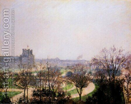 The Tuileries Gardens by Camille Pissarro - Reproduction Oil Painting