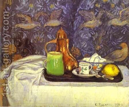 Still Life with a Coffee Pot by Camille Pissarro - Reproduction Oil Painting