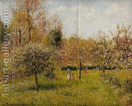 Spring at Eragny by Camille Pissarro - Reproduction Oil Painting