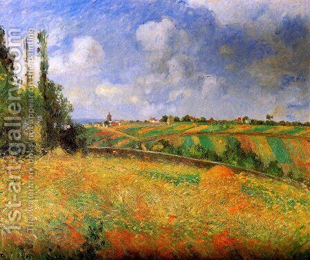Fields by Camille Pissarro - Reproduction Oil Painting
