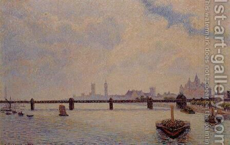 Charing Cross Bridge, London by Camille Pissarro - Reproduction Oil Painting