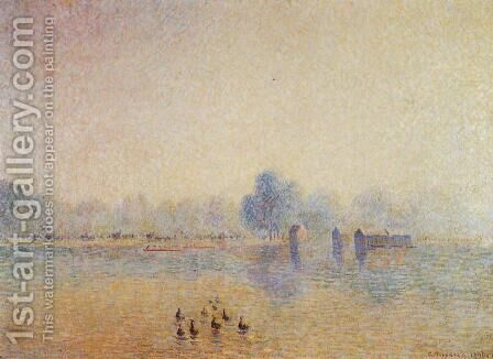 The Serpentine, Hyde Park, Fog Effect by Camille Pissarro - Reproduction Oil Painting
