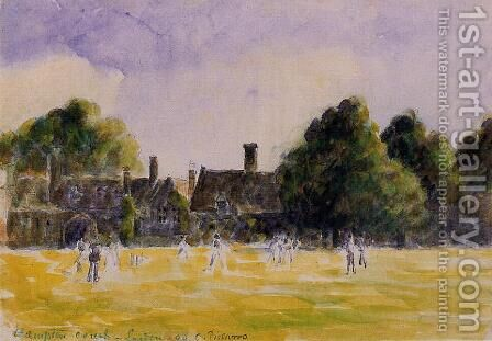 Hampton Court Green by Camille Pissarro - Reproduction Oil Painting