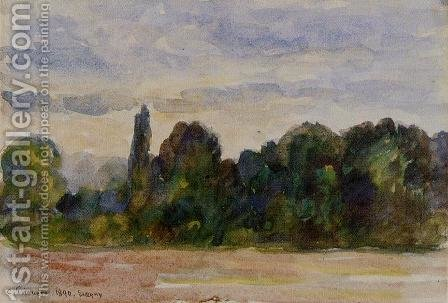 Trees, Eragny by Camille Pissarro - Reproduction Oil Painting