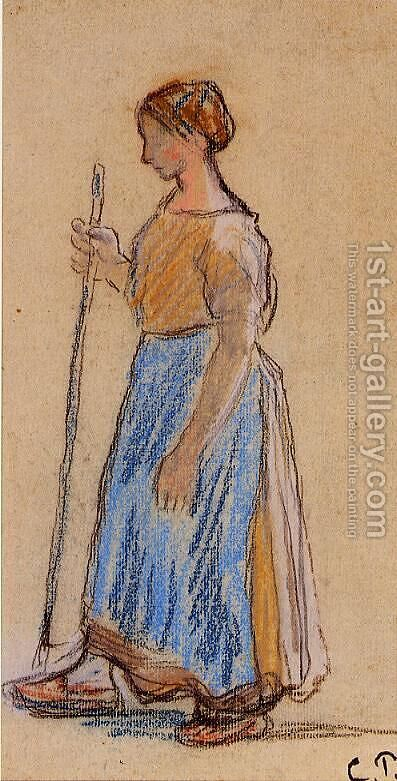 Peasant Woman by Camille Pissarro - Reproduction Oil Painting