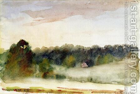 Eragny Landscape by Camille Pissarro - Reproduction Oil Painting