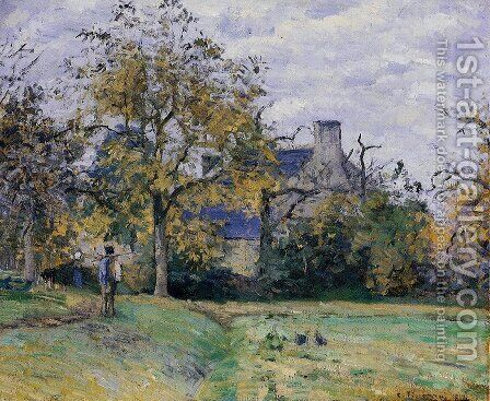 Piette's Home on Montfoucault by Camille Pissarro - Reproduction Oil Painting