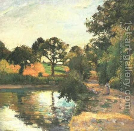 Bridge at Montfoucault by Camille Pissarro - Reproduction Oil Painting