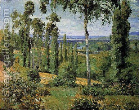 The Countryside in the Vicinity of Conflans Saint-Honorine by Camille Pissarro - Reproduction Oil Painting