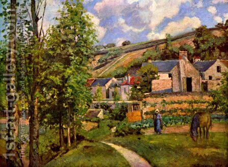 The Hermitage at Pontoise by Camille Pissarro - Reproduction Oil Painting