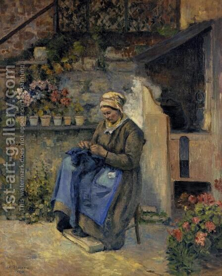 Mother Jolly by Camille Pissarro - Reproduction Oil Painting