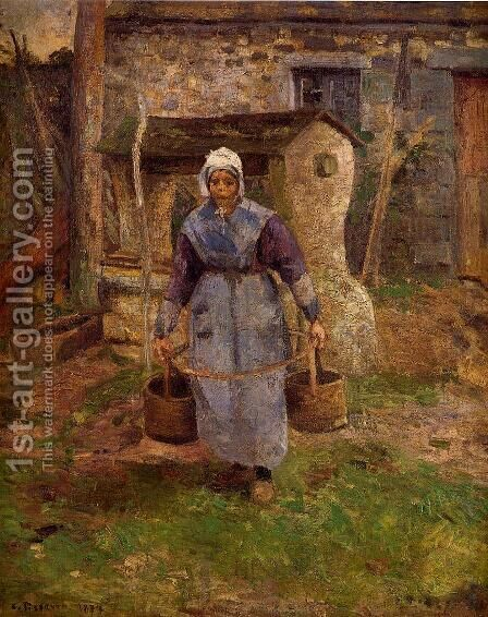 Mother Presle, Montfoucault by Camille Pissarro - Reproduction Oil Painting