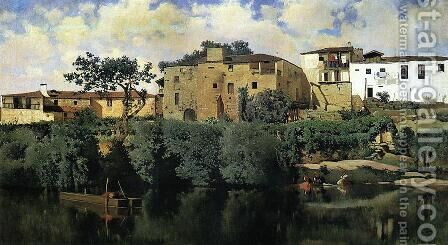 The Banks of the Ega by Aureliano de Beruete y Moret - Reproduction Oil Painting