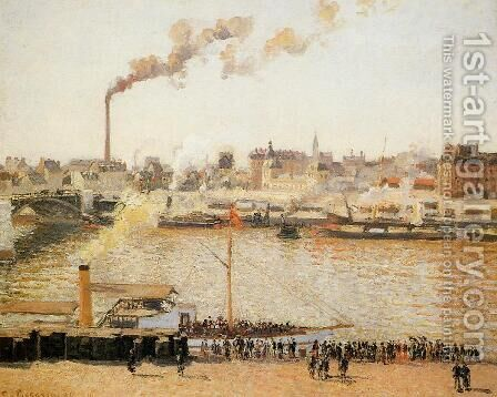 Rouen, Saint-Sever: Morning by Camille Pissarro - Reproduction Oil Painting