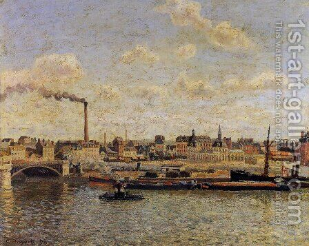 Rouen, Saint-Sever: Afternoon by Camille Pissarro - Reproduction Oil Painting