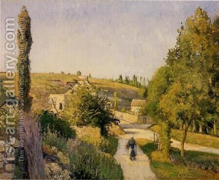 Landscape at l'Hermitage, Pontoise by Camille Pissarro - Reproduction Oil Painting