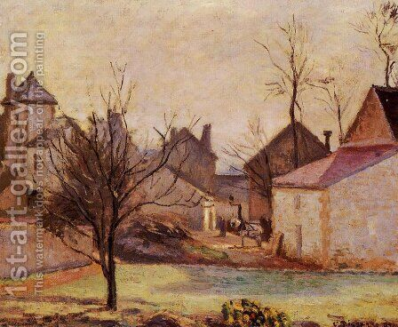 Farmyard in Pontoise by Camille Pissarro - Reproduction Oil Painting