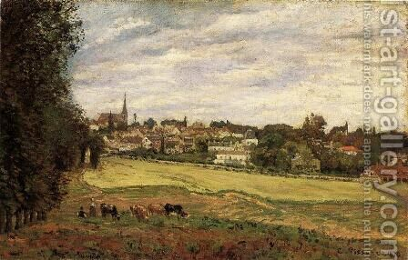 View of Marly-le-Roi by Camille Pissarro - Reproduction Oil Painting