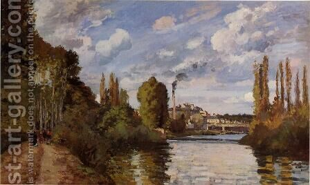 Riverbanks in Pontoise by Camille Pissarro - Reproduction Oil Painting