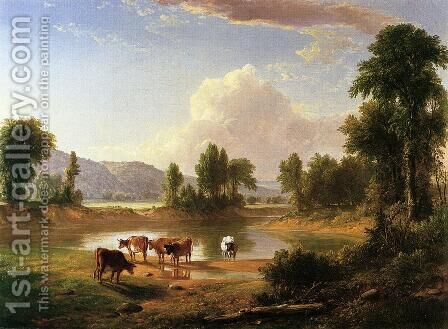 View of Esopus Creek, Ulster County, New York by Asher Brown Durand - Reproduction Oil Painting