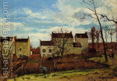 Spring at Pontoise by Camille Pissarro - Reproduction Oil Painting