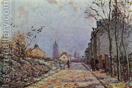 Street: Snow Effect by Camille Pissarro - Reproduction Oil Painting