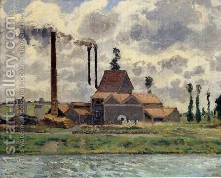 The Factory by Camille Pissarro - Reproduction Oil Painting