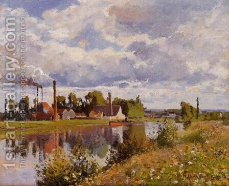 The Oise on the Outskirts of Pontoise by Camille Pissarro - Reproduction Oil Painting