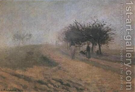 Misty Morning at Creil by Camille Pissarro - Reproduction Oil Painting