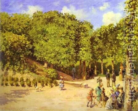 Town Garden in Pontoise by Camille Pissarro - Reproduction Oil Painting