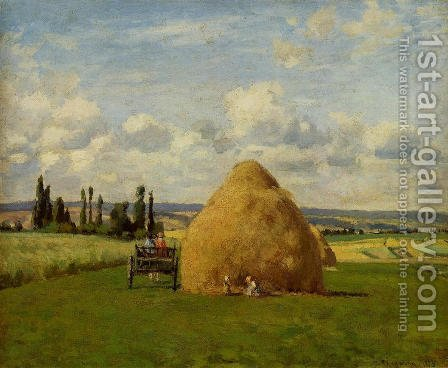 Haystack, Pontoise by Camille Pissarro - Reproduction Oil Painting