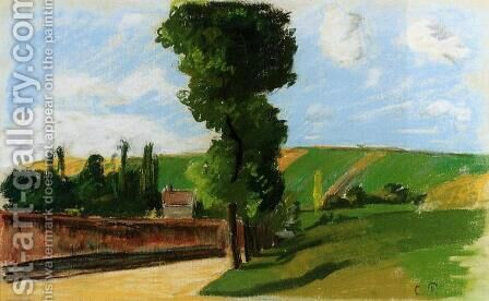 Landscape at Pontoise II by Camille Pissarro - Reproduction Oil Painting